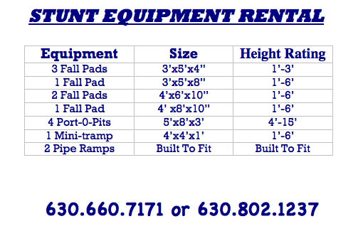 Stunt Equipment For Rent